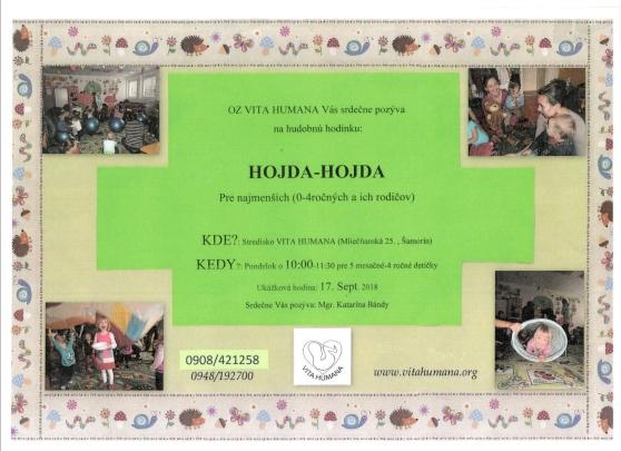 Plagát 2018 Hojda-hojda